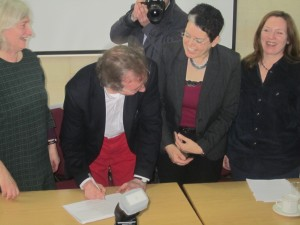 Signing EU Charter